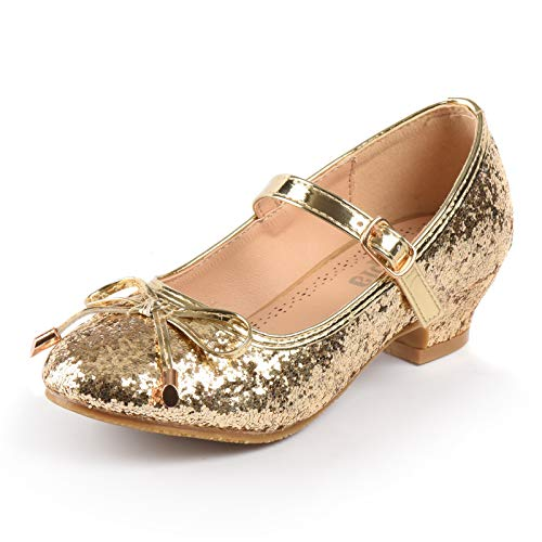 - Nova Utopia Girls Low-Medium Platform Sandal Shoes NF Utopia Girl NFGF059HN Gold 11