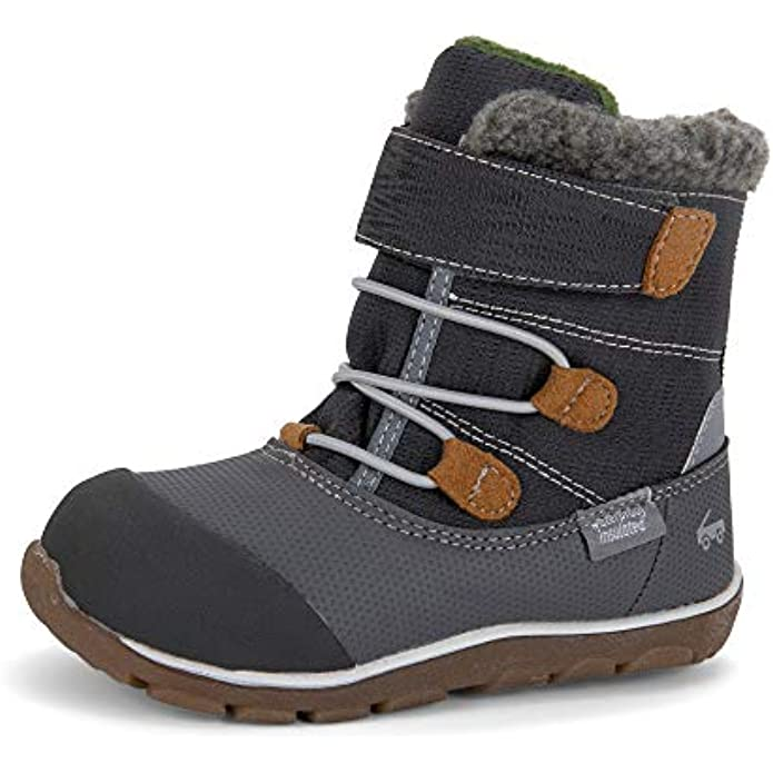 See Kai Run, Gilman Waterproof Insulated Boots for Kids, Gray, 4
