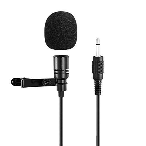 Lavalier Microphone SHIDU Professional Lapel Clip-on Microphone 3.5mm Audio Compatible with All Voice Amplifiers