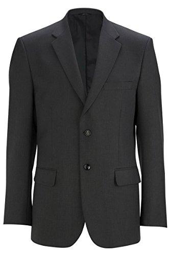 Edwards Men's Washable Suit Jacket (2-Button)-Steel Grey 46 (Washable Suit Jacket)