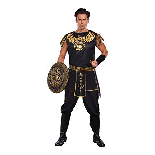 Dreamgirl Men's Warrior Of De Nile Costume, Black/Gold, Medium (Warrior Girl Costume)