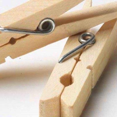 Household Essentials Birchwood Clothespins