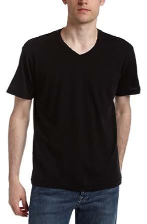 Splendid Men's Always Short Sleeve V-Neck T-Shirt,Black,Small