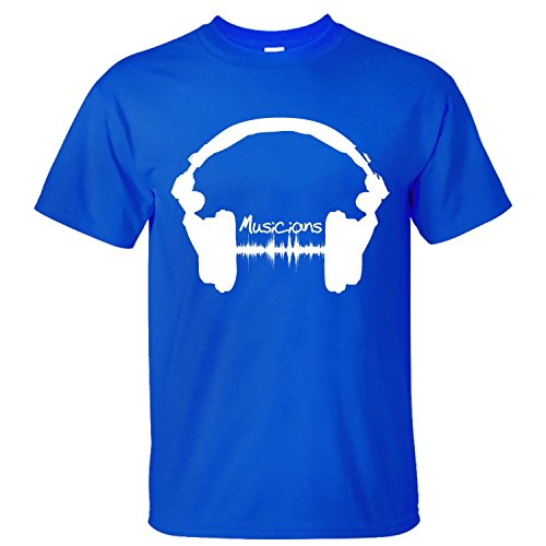 WDFO Music Blog List Logo Musicians Custom Men T Shirt Cotton blue M (A List Cotton T-shirt)