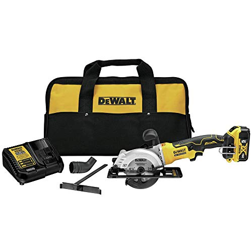 DEWALT DCS571P1 Atomic 20V Max Brushless 4-1/2 in. Cordless Circular Saw Kit