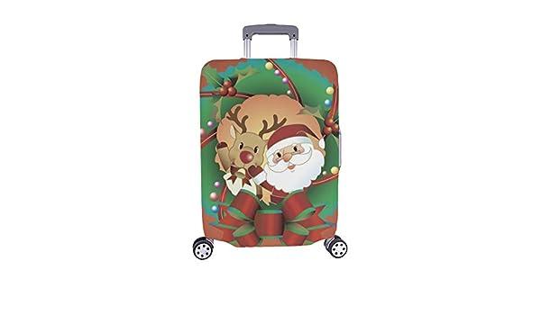8a0589869 Santa Claus Reno Navidad Guirnalda Stock Illustration Patron Spandex  Trolley Case Viaje Equipaje Maleta de 28,5 x 20,5 Pulgadas Funda Protector:  Amazon.es: ...