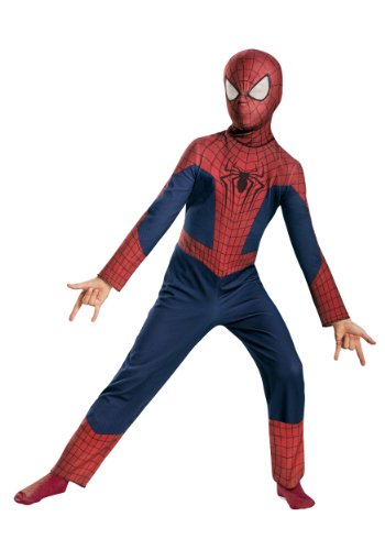 Amazing Spiderman 2 Costumes (Disguise Marvel The Amazing Spider-man 2, Spider-man Value Costume, Child Large 10-12)
