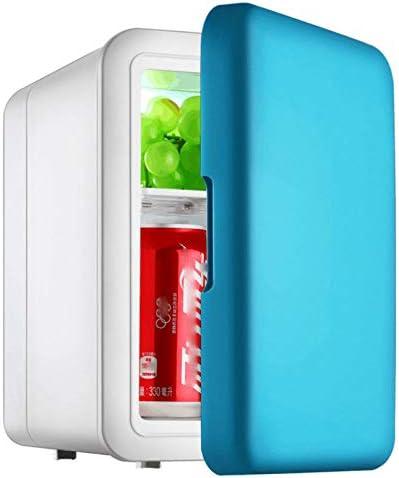 カー用品冷蔵庫ポータブル,ミュート軽量省エネデュアルユース冷却ボックスミニ冷蔵庫のためにベッドルームバー12V220V-車載旅行事務所寮アウトドアキャンプ,Blue