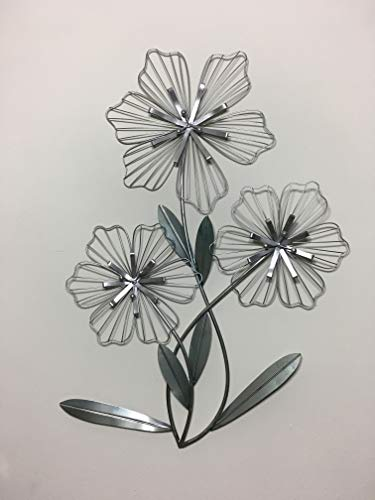 Your Home And Beyond Silver Flower Metal Wall Decor (Art Silver Flowers Wall Metal)