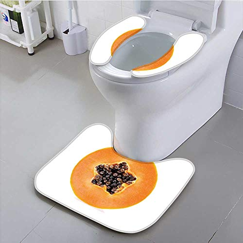 Jiahonghome The Toilet Condom Papaya Isolated on White Background in Bathroom Accessories