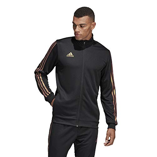 (adidas Men's Alphaskin Tiro Training Jacket, Black/Nude Pearl Essence, Medium)