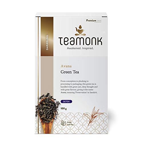 Teamonk Darjeeling Organic Green Tea for Weight Loss
