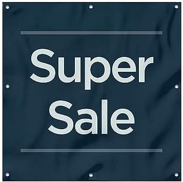8x8 Basic Navy Wind-Resistant Outdoor Mesh Vinyl Banner Super Sale CGSignLab