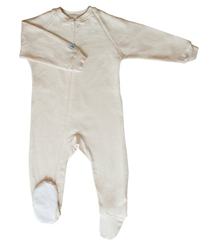 CastleWare Baby Fleece Footie Pajama (Large 12-18 Months, Natural) by CastleWare Baby