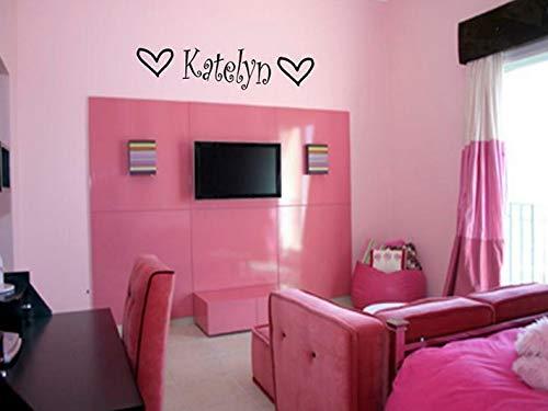 Waldenn Girls Name Hearts Vinyl Sticker Decal Room Decor 36 | Model DCR - ()