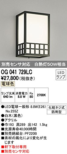 オーデリック エクステリアライト ポーチライト 【OG 041 729LC】OG041729LC B01AHQCJFU 13780