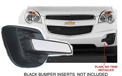 - Zeta Fog Light Insert Chrome Trim Fits 2010-2015 Chevrolet Equinox