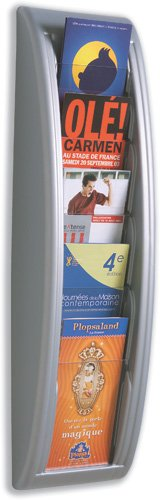 5 Pocket Letter Quick Fit Systems Literature Display Finish: - Letter Paperflow