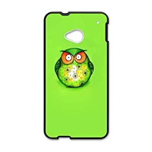 HTC One M7 Cell Phone Case Black Cute Owl Cartoon Art J6V6LK