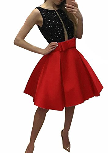 Dresses Back Graduation Dresses Homecoming Beaded Cocktail Party BessDress Short Red BD484 Pockets Evening with V xgfwWaqC