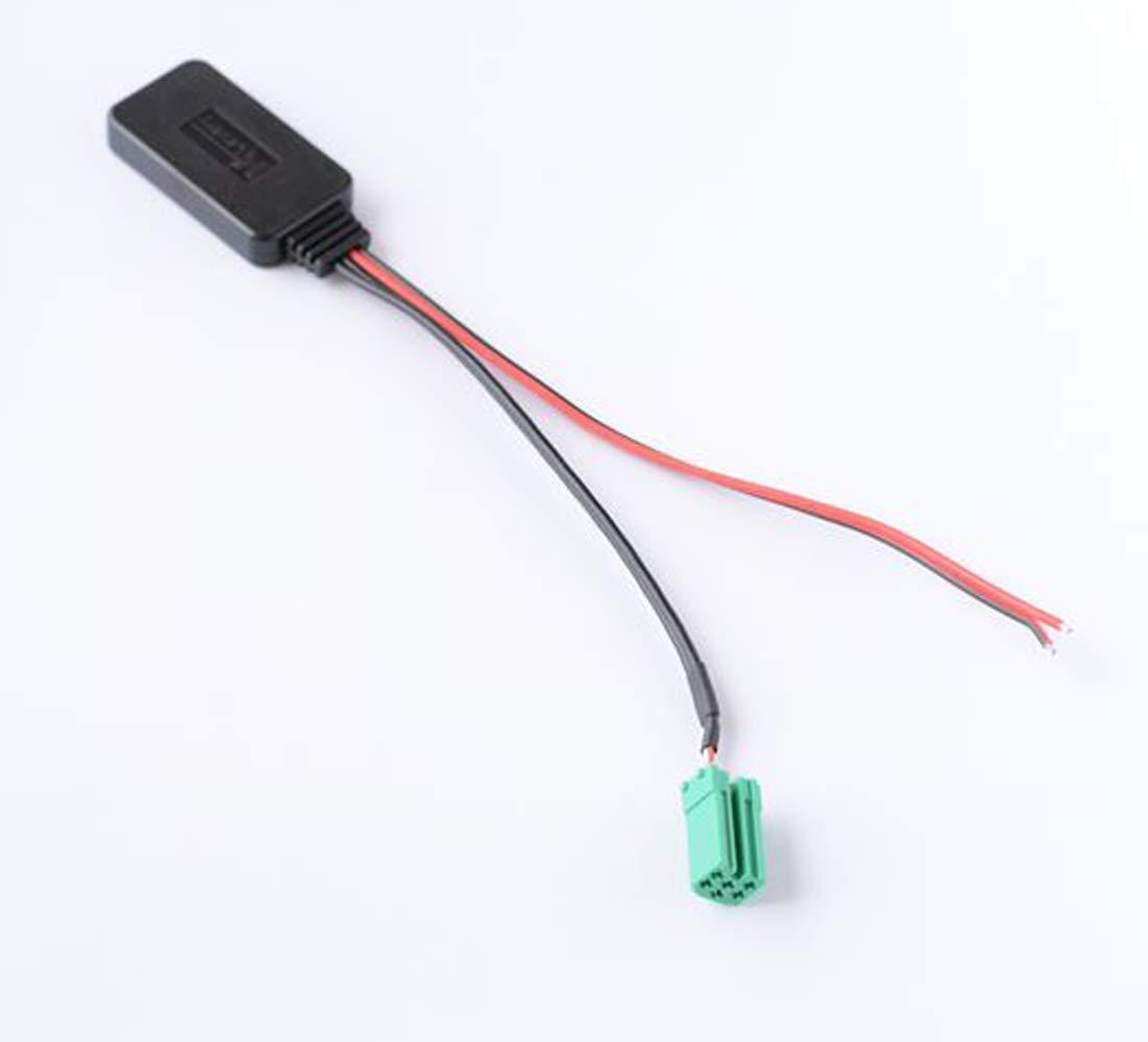 Adaptateur entrée AUX AUX pour Radio CD Mini ISO 6 Broches Bluetooth pour Renault