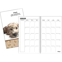 Mead TL905F10 Two-Year Fashion Monthly Pocket Planner, Undated, 3-1/4x6-1/4-Inch, Assorted Puppy Designs