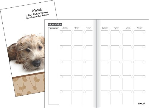 mead-tl905f10-two-year-fashion-monthly-pocket-planner-undated-3-1-4x6-1-4-inch-assorted-puppy-design