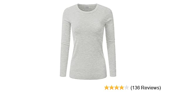7f7c26aa9c JJ Perfection Women s Soft Long Sleeve Round Neck Pullover Sweater at  Amazon Women s Clothing store