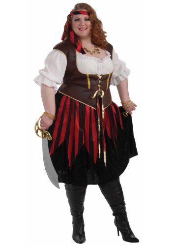 [Forum Novelties Women's Pirate Lady Costume, Multi, 3X] (Pirate Lady Costumes Plus Size)
