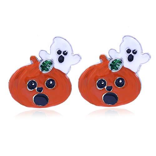 Cute Happy Halloween Fall Jack O Lantern Pumpkin Post Stud Pierced Earrings Costume Fashion Jewelry -