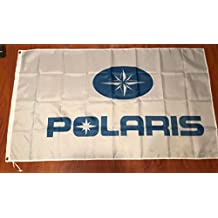 POLARIS FLAG BANNER WHITE LOGO 3X5FT ATV OFF ROAD 4 WHEELER JET SKI BOAT WAKE