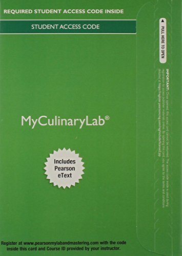 Price comparison product image MyCulinaryLab with Pearson eText -- Access Card -- for On Cooking Update