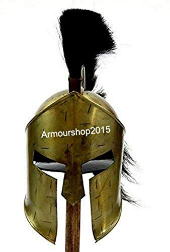 Historicalhub 300 Spartan Movie Medieval King Leonidas Helmet Black Plume