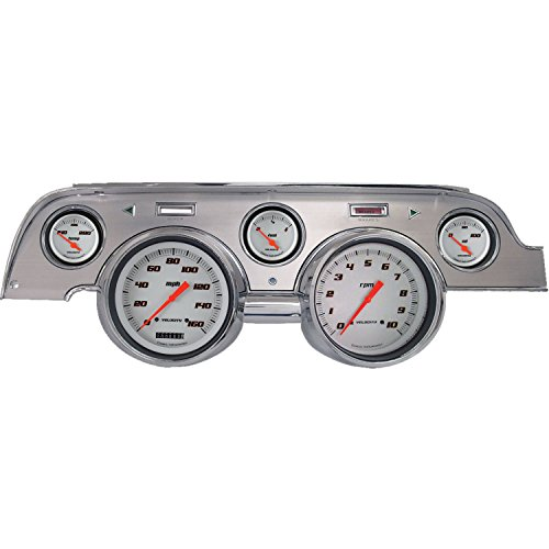 (Velocity Series White Gauge Package with Brushed Aluminum Bezel Face)