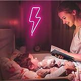 XIYUNTE Neon Sign Lightning Bolt Neon Light Sign
