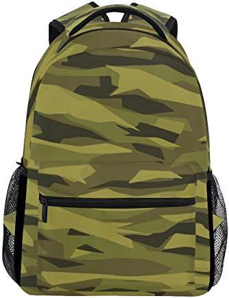 迷彩グリーンカジュアルバッグ リュック リュック ショルダーバッグ 流行 おしゃれ 人気 ラップトップバッグ こども 通勤 通学