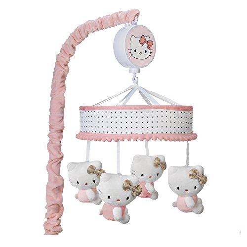 - Lambs & Ivy Hello Kitty Musical Mobile, Pink/White