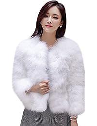 Womens Winter Short Faux Coat Fluffy Outerwear Jacket Warm Overcoat