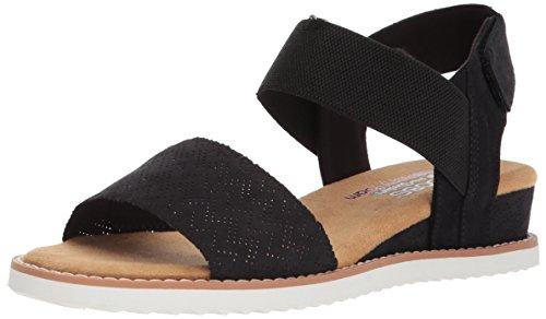 Skechers BOBS Women's Desert Kiss Sandal, Black, 10 M US
