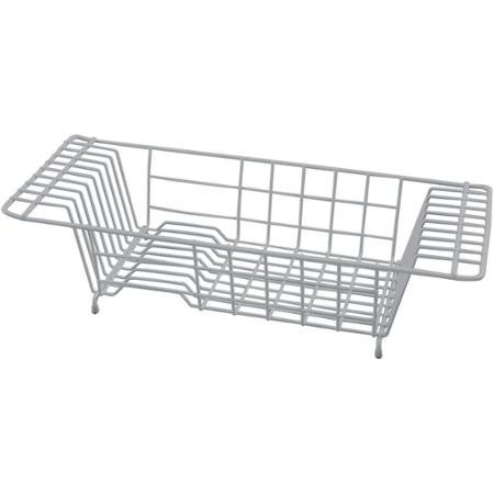 Durable Iron Over-The-Sink Dish Drainer, Grey by Kitchen Details