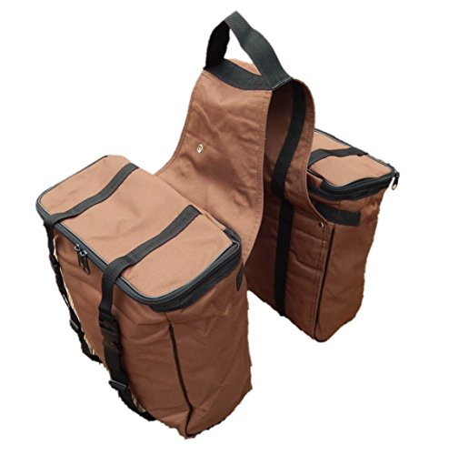 Hill Leather Company Brown Western Cordura Insulated Large Saddle Bag