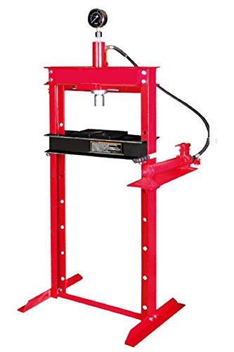 12 Ton Press (Wimmer 12 Ton Shop Press with Hand Pump Pressure Gauge H-Frame Hydraulic Equipment 34