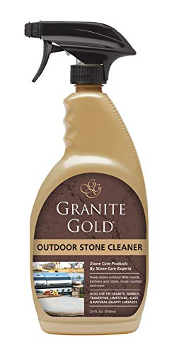 Granite Gold Outdoor Stone Cleaner - Deep Cleans Various Outdoor Stone Surfaces - 24 Ounces