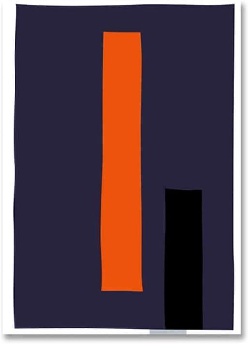 LiMengQi2 Póster Moderno geométrico Abstracto con Estampado de Colores, Cuadros nórdicos en Lienzo, imágenes artísticas para Pared, decoración para el hogar, la Oficina, la Sala de Estar(No Frame)