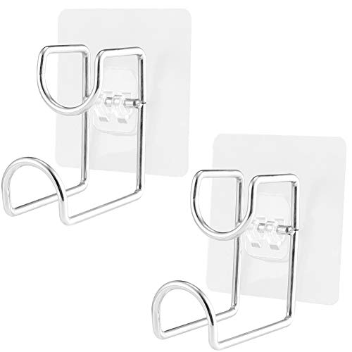 Irich 2 Pack Washbasin Self Adhesive Hooks - Wall Mounted Hanger Stainless Steel No Drill Holder for Towel Bathroom Kitchen Office Cooking Tools (Wall Mounted Washbasin)