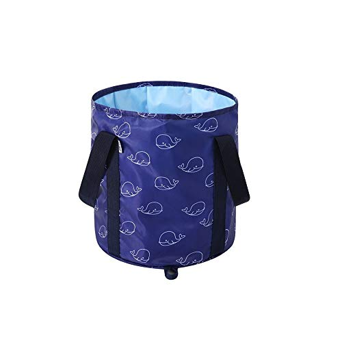 - Folding Bucket, Portable Collapsible Washbasin, Travel Thick Washbasin, Large Washtub, Travel Bag, Outdoor Bucket, Orchid/Flamingo/Whale (Color : Whale)