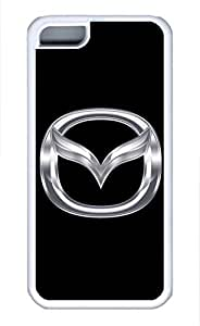 iPhone 5C Case, iPhone 5C Cases - Protective Soft-Interior Scratch Protection Case for iPhone 5C Mazda Car Logo 8 Soft Flexible Extremely Thin White Case for iPhone 5C by runtopwell