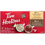 Tim Hortons Variety Pack - 15 Hot Chocolate, and 15 French Vanilla, 1 Count
