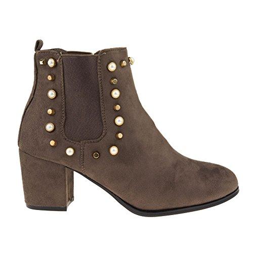 Chelsea London Footwear Femme Kaki Boots 8SE8Xqxzw