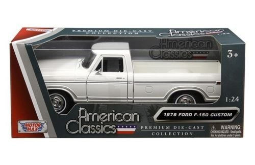 1979 Ford F-150 Pickup WHITE 1:24 Scale Diecast Model Truck